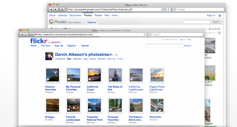Create albums from Flickr and Picasa